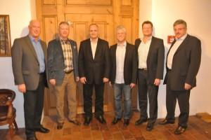 v.l.n.r. Alfred Painsi, Markus Krüger (Aktuar), Franco Flisch (Kassier), Kurt Schädler (Präsident), Felix Rippe (Vizepräsident), Siegbert Hilty